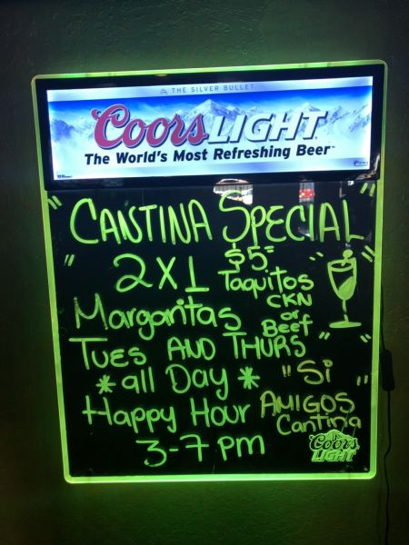 Si Amigos Mexican Restaurant, Cantina Special