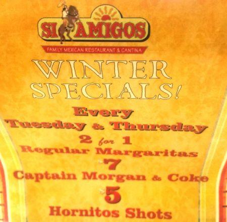 Si Amigos Mexican Restaurant, Happy Hour